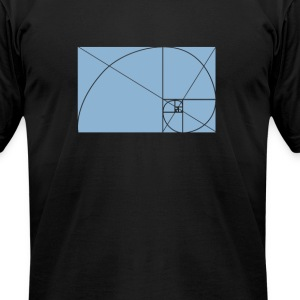 fibonacci - Men's T-Shirt by American Apparel
