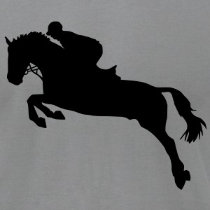 Horse show jumping T-Shirts - Men's T-Shirt by American Apparel