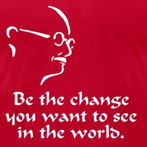 Gandhi – Change - Men's T-Shirt by American Apparel