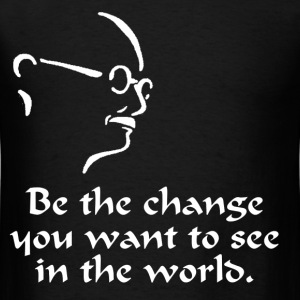Gandhi – Change - Men's T-Shirt