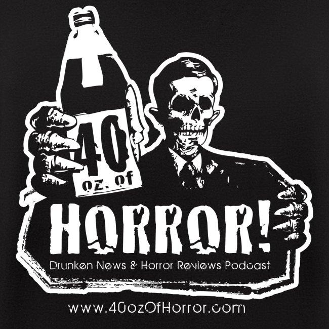 Zipper Hoodie - 40oz Of Horror Podcast Logo