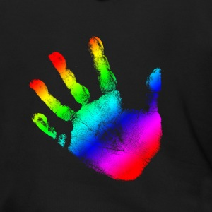 Hand print - Rainbow - Imprint, Fingerprint, palm, high five perfect for hoodies, tshirts, tanks, iphone cases, ipad cases, etc!  Zip Hoodies/Jackets - Men's Zip Hoodie