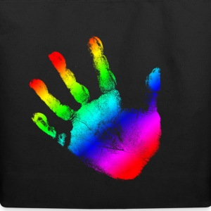 Hand print - Rainbow - Imprint, Fingerprint, palm, high five perfect for hoodies, tshirts, tanks, iphone cases, ipad cases, etc!  Bags  - Eco-Friendly Cotton Tote