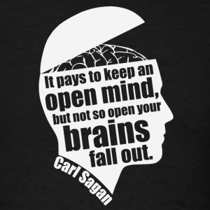 Carl Sagan - Open Mind - Men's T-Shirt