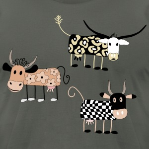 Cow Art Design - Men's T-Shirt by American Apparel