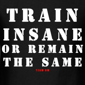 TRAIN INSANE OR REMAIN THE SAME - Men's T-Shirt
