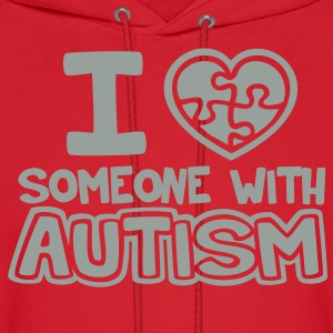 I Love Someone With Autism - Men's Hoodie