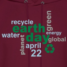 Earth Day Words Hoodie