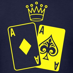 Poker Cards with Crown T-Shirts - Men's T-Shirt