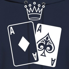 Poker Cards with Crown Hoodies