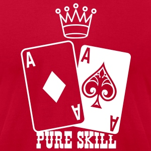Poker - Pure Skill T-Shirts - Men's T-Shirt by American Apparel