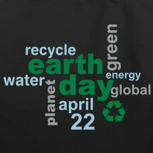 Earth Day Words - Eco-Friendly Cotton Tote