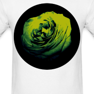 Design ~ Mens Green Rose Circle Street Style Fashion T-Shirt
