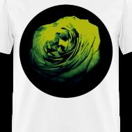 Design ~ Mens Green Rose Circle Street Style Fashion T-Shirt