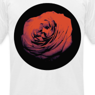 Design ~ Mens Red Rose Circle Street Style Fashion T-Shirt