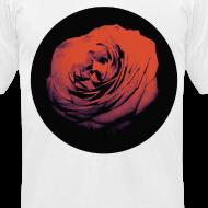 Design ~ Mens Red Rose Circle Street Style Fashion T-Shirt