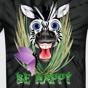 Be Happy - Unisex Tie Dye T-Shirt