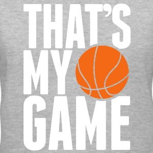basketball - that's my game Women's T-Shirts - Women's V-Neck T-Shirt