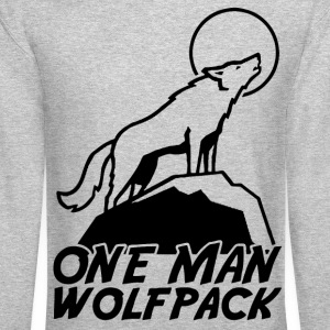 one man wolf pack Long Sleeve Shirts - Crewneck Sweatshirt
