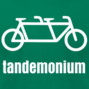 Men's Tandemonium Tandem Bicycle T-shirt - Men's T-Shirt by American Apparel