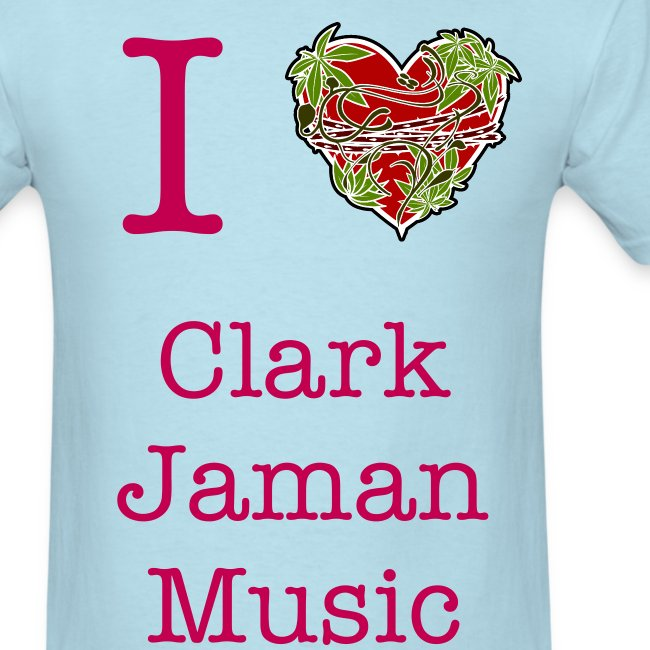 I Heart Clark Jaman Music Men's Tee