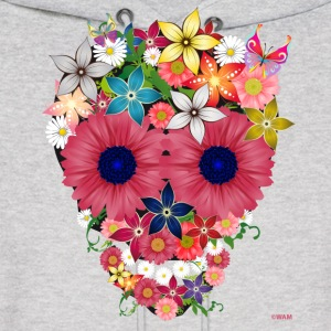 skull flowers by wam Hoodies - Men's Hoodie