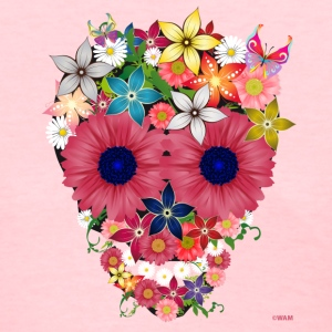 skull flowers by wam T-shirts (manches courtes) - T-shirt pour femmes