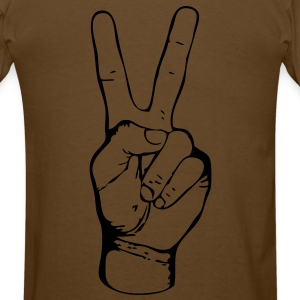PEACE - FREEDOM - LIBERTY - JUSTICE - handsign - hand - sign - SHIRT - Men's T-Shirt