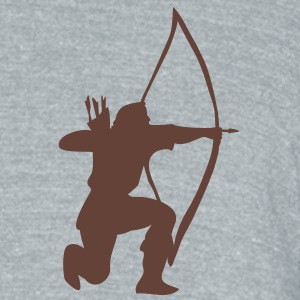longbow english archer medieval symbol T-Shirts - Unisex Tri-Blend T-Shirt by American Apparel
