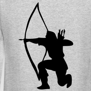 longbow english archer medieval symbol Long Sleeve Shirts - Crewneck Sweatshirt