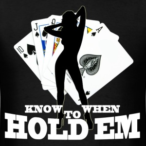 poker know when to hold em - Men's T-Shirt