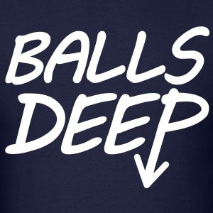 Balls Deep (White) - Men's - Men's T-Shirt