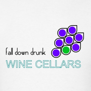 fall down drunk wine cellars drinking party shirt - Men's T-Shirt