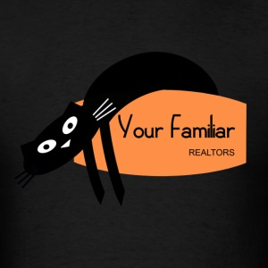 black cat Your Familiar realtors witchcraft pagan wiccan - Men's T-Shirt
