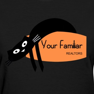 black cat Your Familiar realtors witchcraft pagan wiccan - Women's T-Shirt