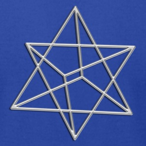 Merkaba, 3D, digital silver, divine light vehicle, sacred Geometry T-Shirts - Men's T-Shirt by American Apparel