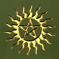 Pentagramme - Pentagram - Blazing Star- ancient magic symbol, DD, protective amulet, energy symbol T-Shirts
