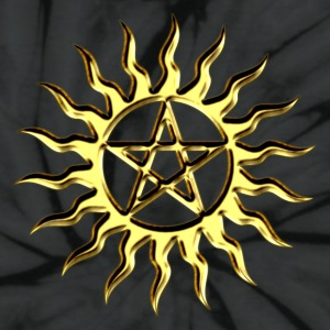 Pentagramme - Pentagram - Blazing Star- ancient magic symbol, DD, protective amulet, energy symbol T-Shirts - Unisex Tie Dye T-Shirt