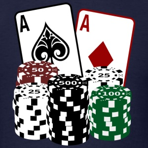 Poker Cards with Chips T-Shirts - Men's T-Shirt
