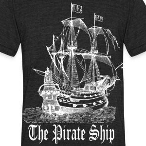 Pirate Ship T-Shirts - Unisex Tri-Blend T-Shirt by American Apparel