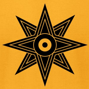 Star Of Ishtar - Venus Star 2, Symbol of the great Babylonian Goddess of love Ishtar (Inanna), c T-Shirts - Men's T-Shirt by American Apparel