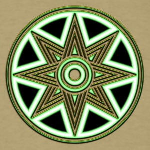 Star Of Ishtar - Venus Star 2, Symbol of the great Babylonian Goddess of love Ishtar (Inanna), green T-Shirts - Men's T-Shirt