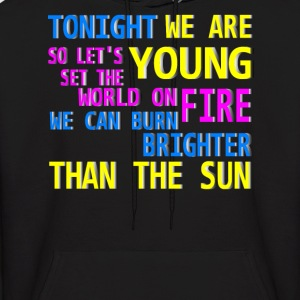 tonight we are young Hoodies - Men's Hoodie