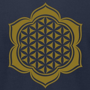 Flower of life, Lotus-Flower, vector 4, c, energy symbol, healing symbol T-Shirts - Men's T-Shirt by American Apparel