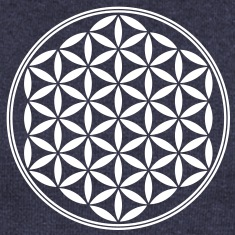 Flower of Life - Sacred Geometry, c, Healing Symbol, Energy Symbol, Harmony, Balance Long Sleeve Shirts