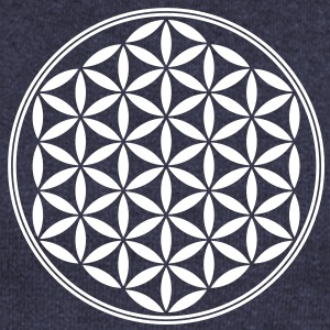Flower of Life - Sacred Geometry, c, Healing Symbol, Energy Symbol, Harmony, Balance Long Sleeve Shirts - Women's Wideneck Sweatshirt