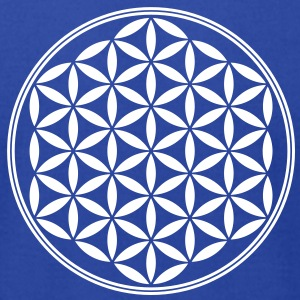 Flower of Life - Sacred Geometry, c, Healing Symbol, Energy Symbol, Harmony, Balance T-Shirts - Men's T-Shirt by American Apparel