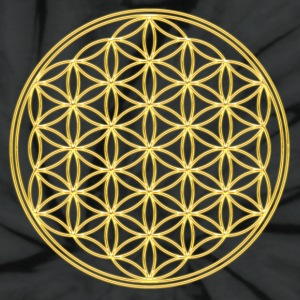 Flower of Life - Gold - FEEL THE ENERGY! Sacred Geometry, Healing Symbol, Energy Symbol, Harmony, Balance T-Shirts - Unisex Tie Dye T-Shirt