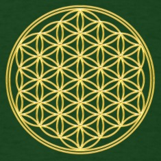 Flower of Life - Gold - FEEL THE ENERGY! Sacred Geometry, Healing Symbol, Energy Symbol, Harmony, Balance T-Shirts