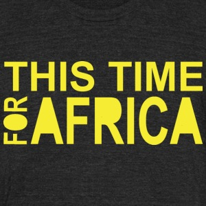 This Time For Africa Waka-waka - Unisex Tri-Blend T-Shirt by American Apparel